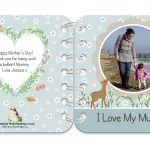 Springtime personalised book covers