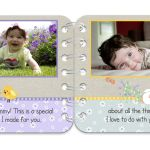 Springtime personalised book pages 1 & 2