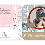 Christmas Friends personalised book covers
