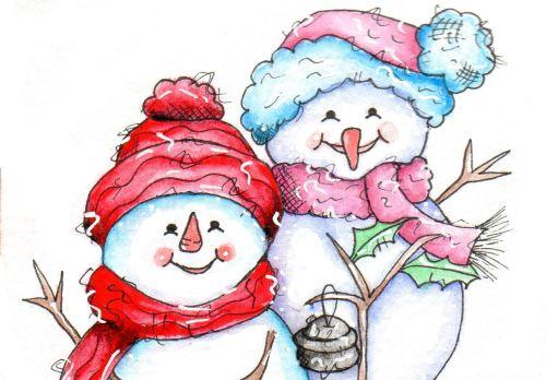 Mr & Mrs Snow (Coloured Version)