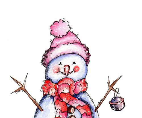Snowman Bell (digi Stamp)