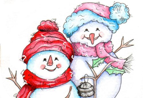 Mr & Mrs Snow (digi Stamps)