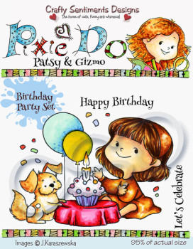 Birthday Party A7 stamp set