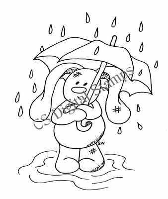 Flopsy in the rain