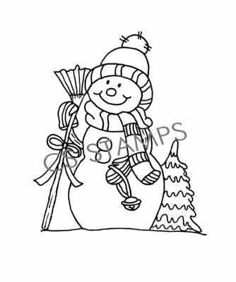 Snowman Broom