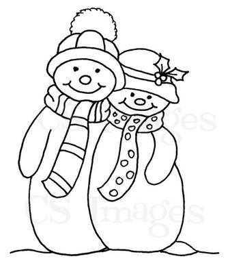 Snowman Couple