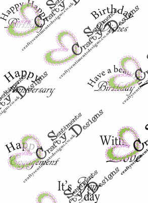Half Circle Celebration Sentiments set 1