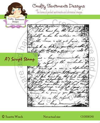 A7 Script stamp