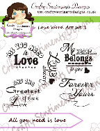 Love Word Art Set 1