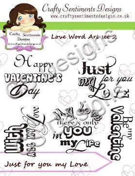 Love Word Art Set 2