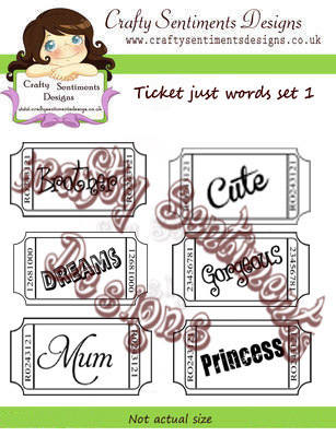 Ticket just words set 1