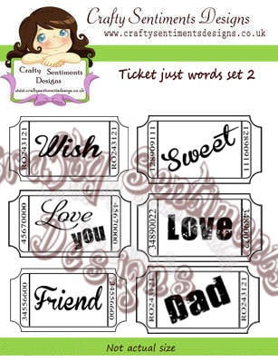 Ticket just words set 2