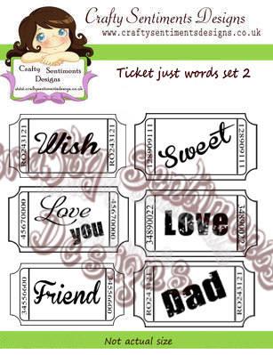 Ticket just words set 2