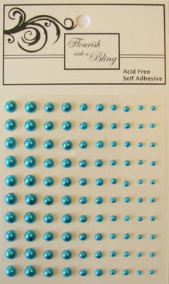 Adhesive Pearls 100 Pack Teal (Out of Stock)