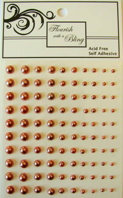 Adhesive Pearls 100 Pack Copper