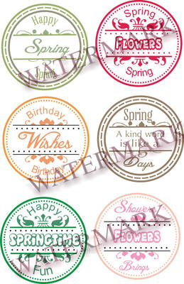 Springtime Sentiment Circles