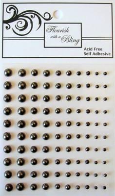 Adhesive Pearls 100 Pack Chocolate
