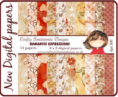 Romantic Expressions digital papers