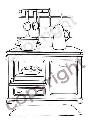 Kitchen Accessory Stamp (Pre order)