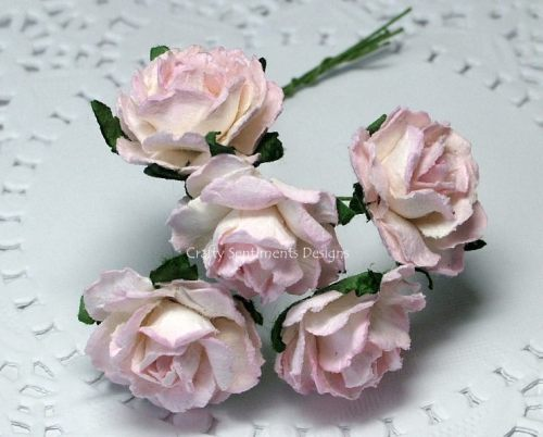 TONE MULBERRY PAPER COTTAGE ROSES (Pack of 5)