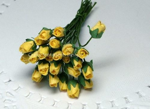 SMALL YELLOW ROSEBUDS