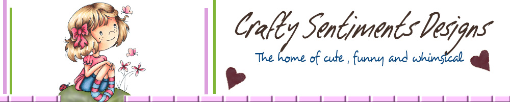Crafty Sentiments Designs, site logo.