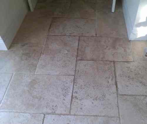 Limestone floor Before