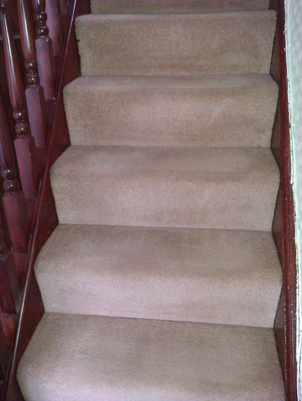 Cleaned stair carpet - swanseacarpetcleanig.co.uk