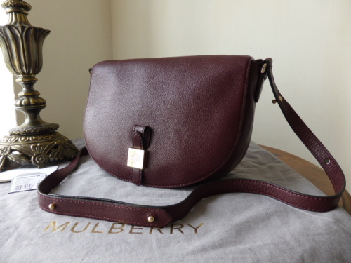 Mulberry Tessie Satchel in Oxblood Soft Small Grain Leather