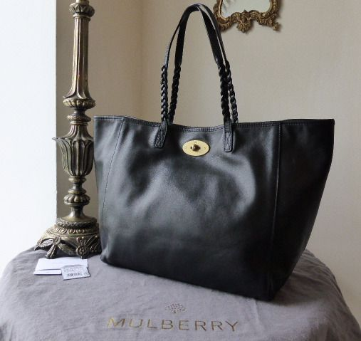 Mulberry Medium Dorset Tote in Black Smooth Touch Nappa Leather