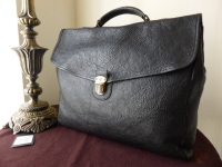 Mulberry Geoffrey Briefcase in Black Natural Leather