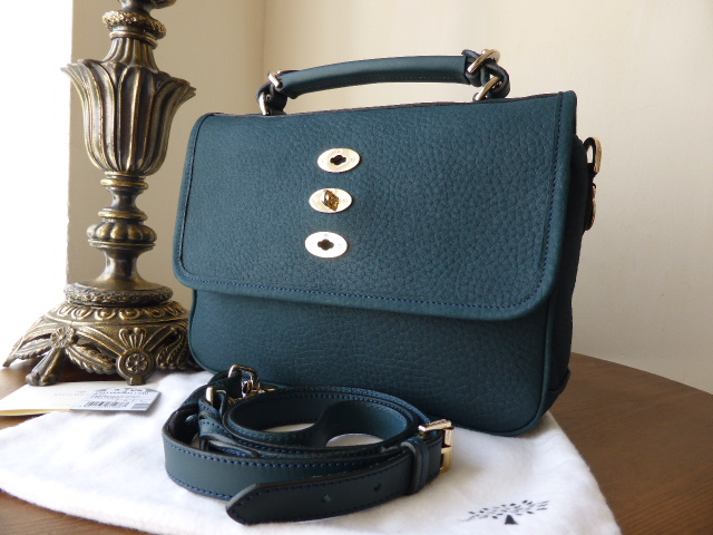 Mulberry Bryn in Petrol Velvet Grain Leather