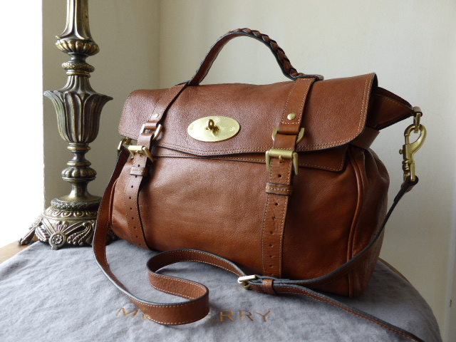 Mulberry Oversized Alexa in Oak Soft Buffalo Leather