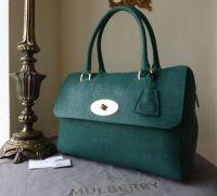 Mulberry Del Rey in Emerald Textured Lizard Print - New