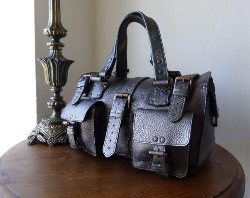 Mulberry Roxanne in Gunmetal Metallic Glove Leather
