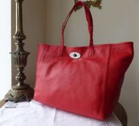 Mulberry Medium Dorset Tote in Bright Red Soft Nappa Leather