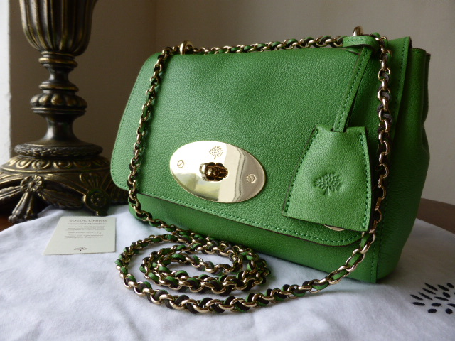 Mulberry Lily 9Regular) in Grass Green Glossy Goat Leather
