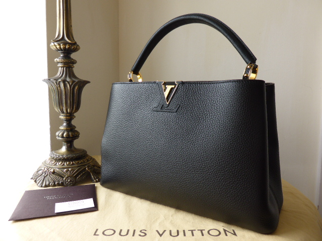 Louis Vuitton Capucines MM Noir Ref 3