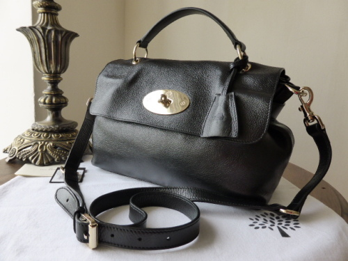 Mulberry Postmans Lock Satchel in Black Soft Spongy Leather