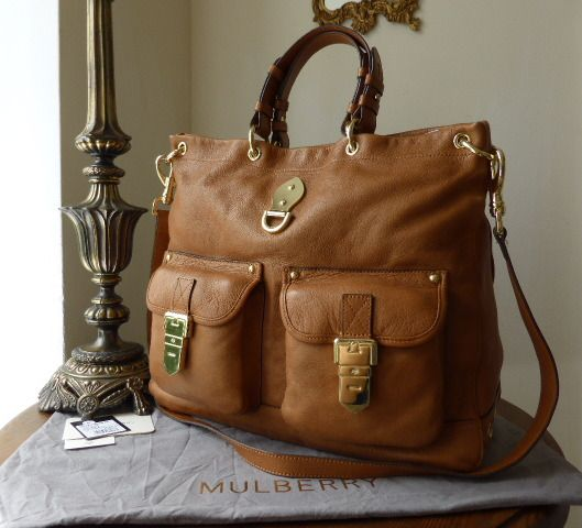 Mulberry Tillie Tote in Chestnut Soft Matte Leather