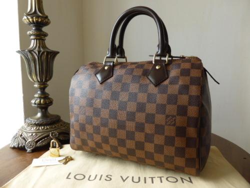 Louis Vuitton Speedy 25 in Damier Ebene