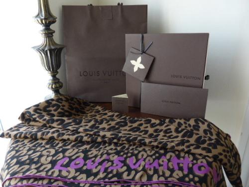 Louis Vuitton Stephen Sprouse Leopard Carre Geant Leo Marron Silk Scarf
