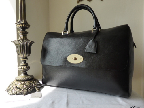 Mulberry Oversized Del Rey in Black Soft Spongy Leather - As New