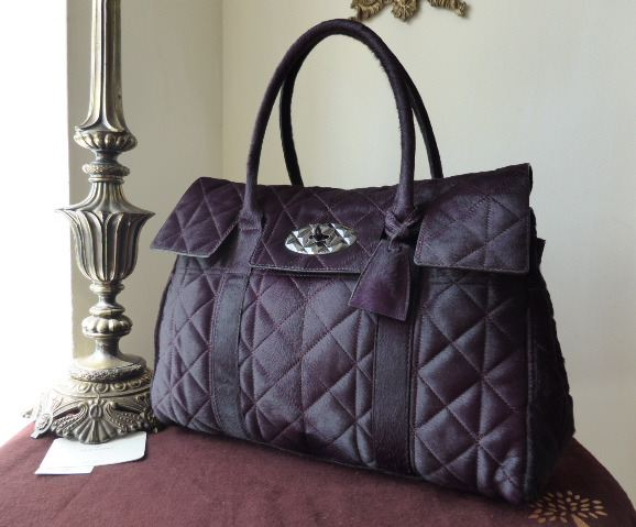 Mulberry Bayswater in Quilted Red Onion Haircalf - As New*