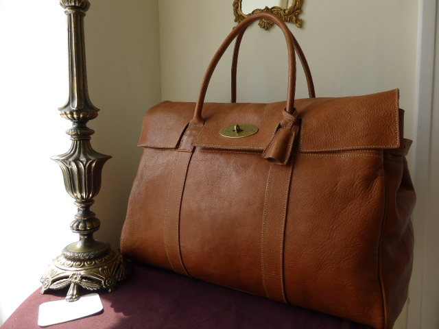 Mulberry Piccadilly Large Travel Bag In Oak Darwin Leather -(Sub)