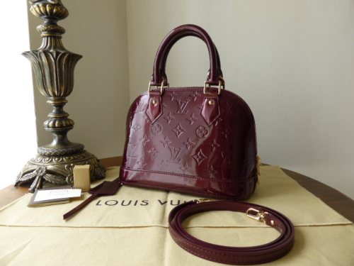 Louis Vuitton Alma BB in Rouge Fauviste Vernis - New
