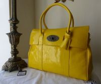 Mulberry Limited Edition Selfridges 100th Birthday Bayswater in Yellow Wrinked Patent Leather - New*