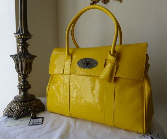 Mulberry Limited Edition Selfridges 100th Birthday Bayswater in Yellow Wrin
