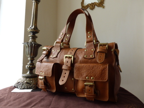 Mulberry Roxanne in Oak Natural Vegetable Tanned Leather - Sub (ref 2M)