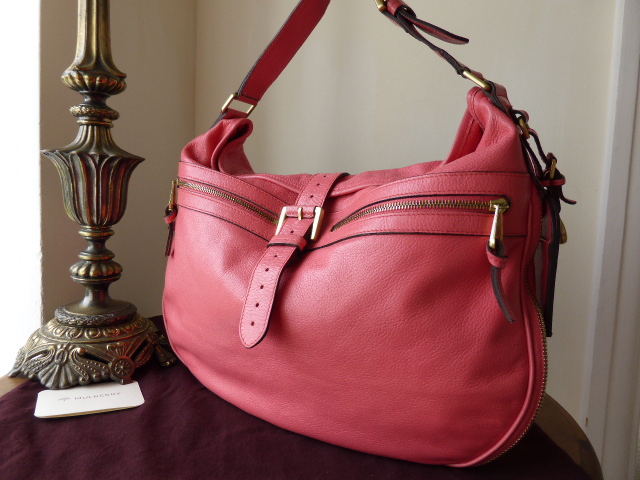 Mulberry Mabel Hobo in Lipstick Pink Soft Spongy Leather